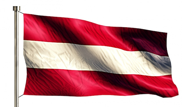 Австрия национальный флаг изолированных 3d белый фон