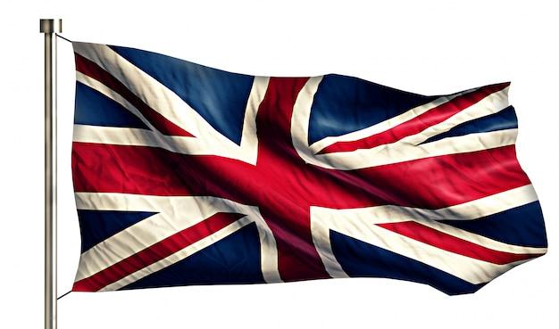 イギリスの国旗は、3dの白い背景を分離
