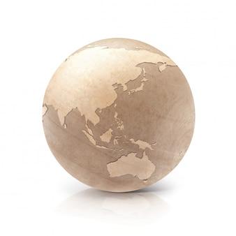 3d изображение дерева шар на белом фоне азия и австралия