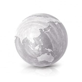 3d-иллюстрация из цементного шара на белом
