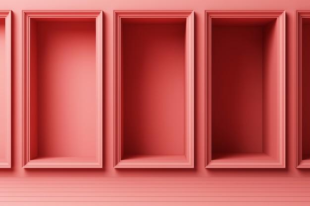 Абстрактная геометрическая форма пастельные цвета шаблон минимальный современный стиль стены фон с освещением растут 3d-рендеринга