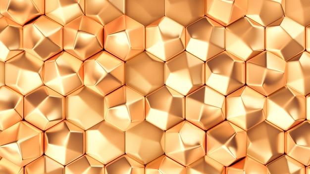 Золотой металлический фоновой текстуры. 3d иллюстрация