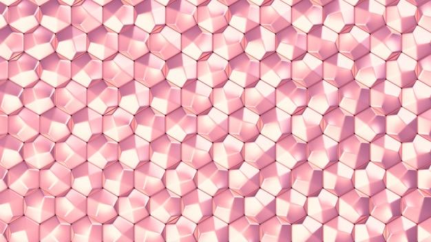 ゴールドとピンクの金属の背景のテクスチャ。 3dイラスト