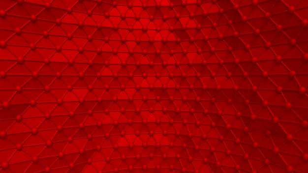 Роскошный элегантный красный фон с треугольниками и кристаллами. 3d иллюстрация