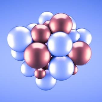 Праздничный, позитивный, яркий пастельный фон с шариками. 3d-рендеринг.