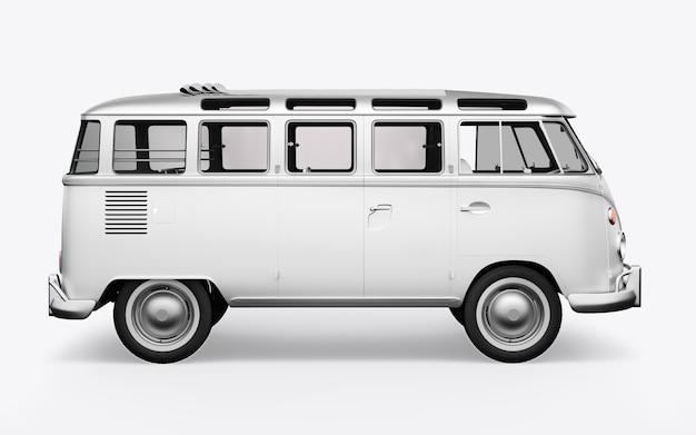 3d визуализация хиппи автобус