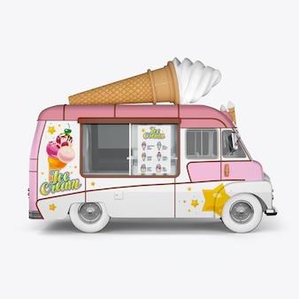 3d рендеринг машины для мороженого