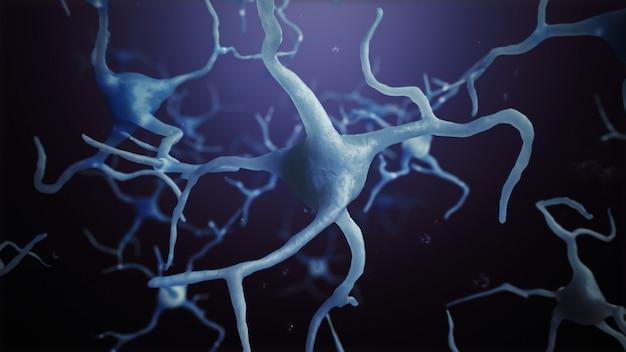 3d визуализация нейрон клетки связи мир абстрактный