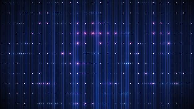 3d визуализация светодиодный красный и синий фон блеск