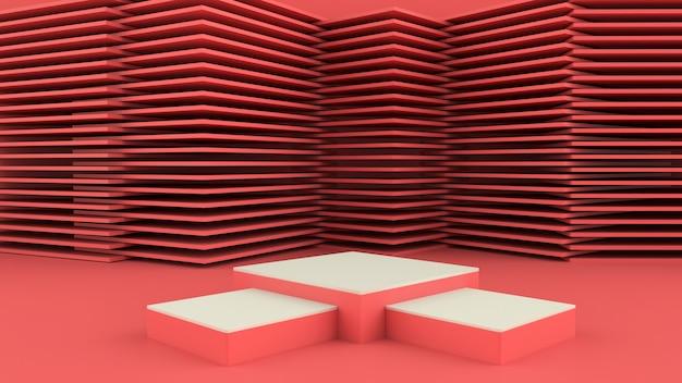 3d-рендеринг с подиумом для презентации продукта