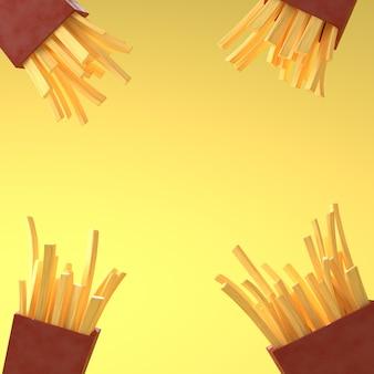 3d визуализации изображения французских огней