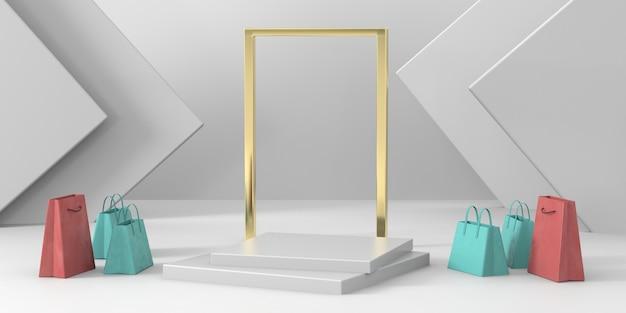 3d-рендеринг подиум для предметов роскоши