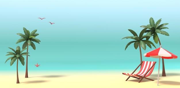 3d-рендеринг изображения лета, отдыха, отдыха