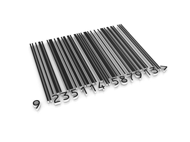 3d штрих-код на белом
