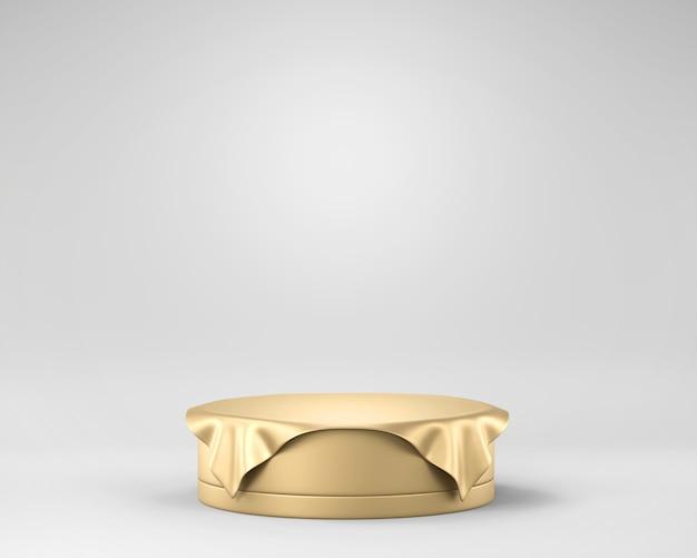 Платформа этапа абстрактной элегантности роскошная золотая, шаблон для рекламировать продукт, перевод 3d.