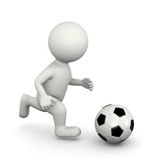 サッカー選手3dキャラクター