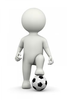 フットボール選手3dキャラクター