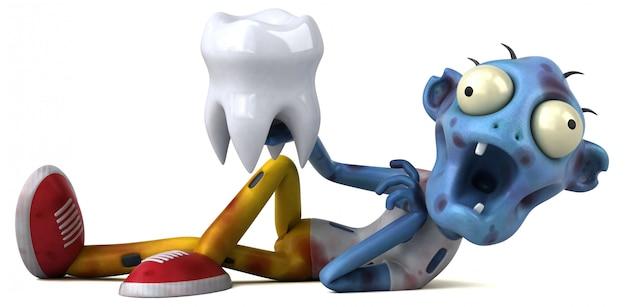 Забавный зомби - 3d иллюстрация