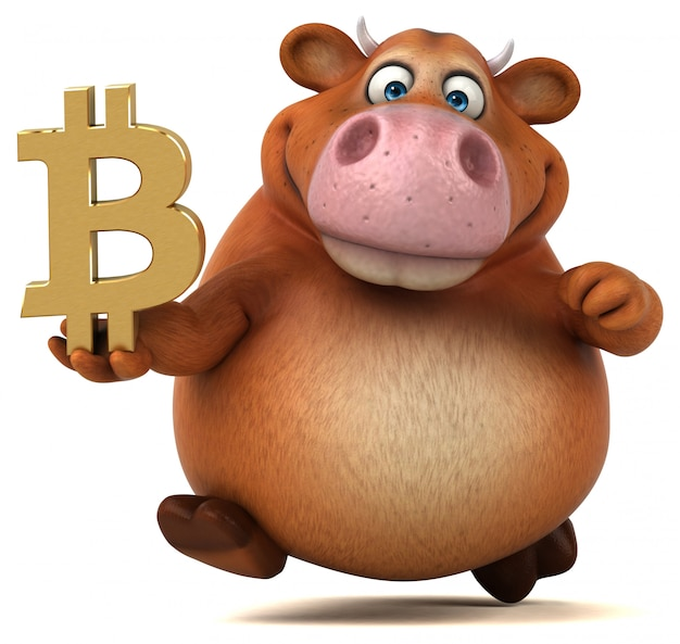 Забавная корова - 3d иллюстрации