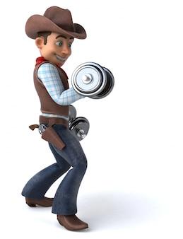 Забавный ковбой - 3d иллюстрация