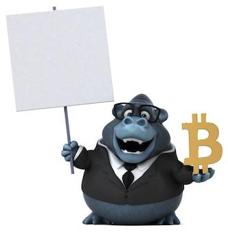 Веселая горилла - 3d иллюстрации