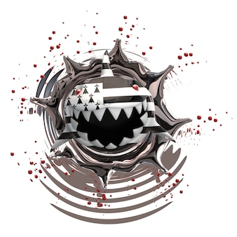 Концепция акулы - 3d иллюстрации