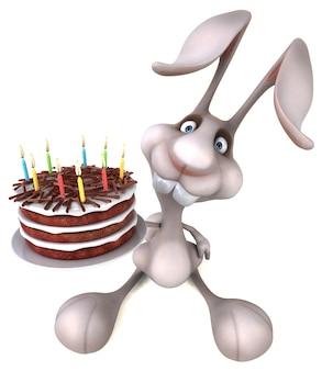 Забавный кролик - 3d иллюстрация