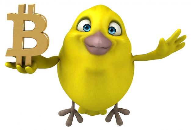 Забавная птица - 3d иллюстрация