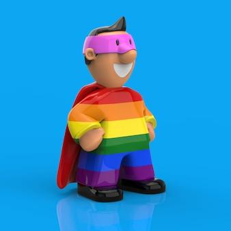 Концепция супергероя - 3d иллюстрации
