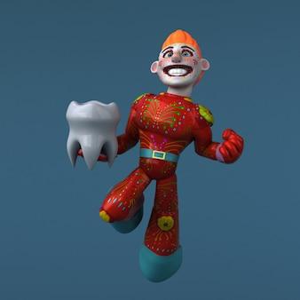 Мексиканский герой - 3d иллюстрация