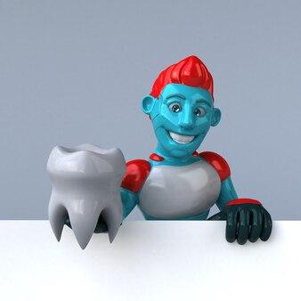 Красный робот - 3d иллюстрация