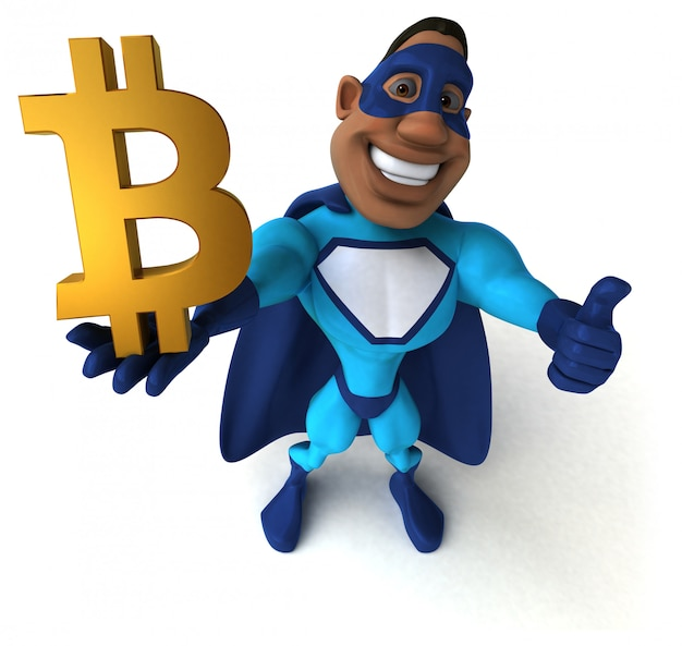 Забавный супергерой - 3d иллюстрация