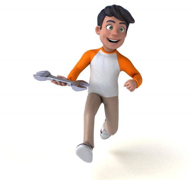 Веселый 3d мультфильм азиатский подросток