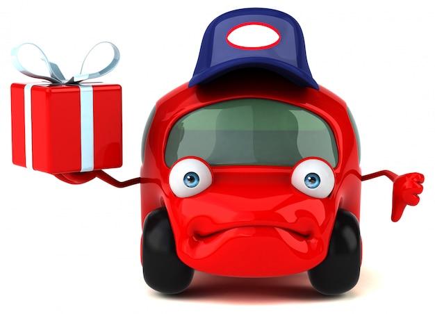 Веселая машина - 3d иллюстрация