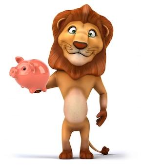 3d-рендеринг забавного льва