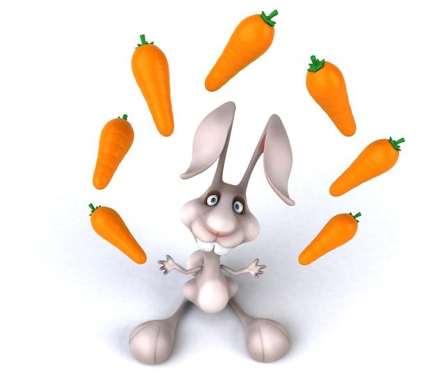 3d-рендеринг забавного кролика