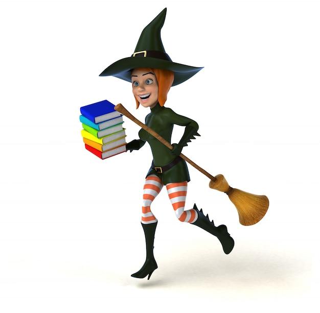 Сексуальная ведьма 3d иллюстрации