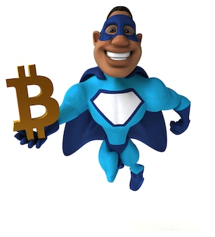 Забавный супергерой 3d иллюстрация