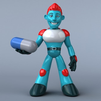 赤いロボット-3dキャラクター
