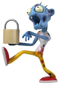 Веселый зомби - 3d персонаж