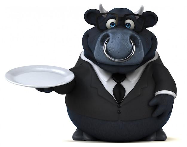 Черный бык - 3d иллюстрация
