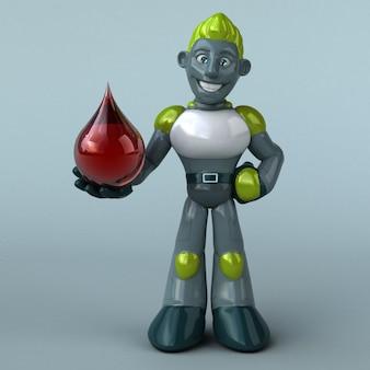 Зеленый робот - 3d иллюстрация