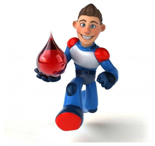 Супер современный супергерой - 3d иллюстрация