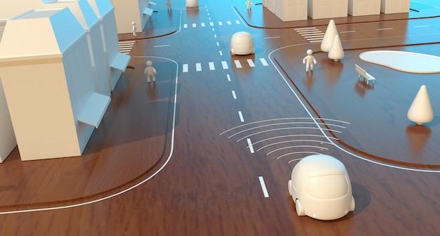 自動運転車-3dアニメーション