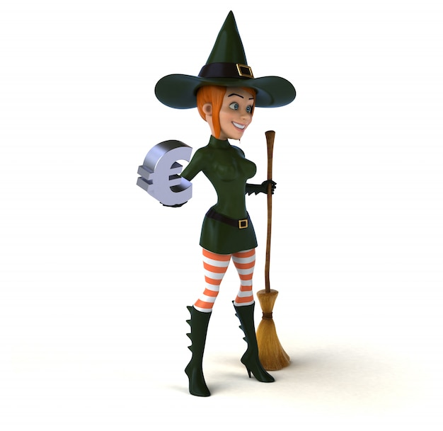 Сексуальная ведьма - 3d персонаж