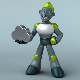 緑のロボット-3dキャラクター