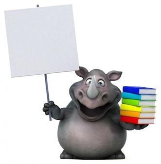 Забавный носорог 3d иллюстрация