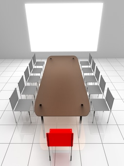 3d интерьер. стулья и стол