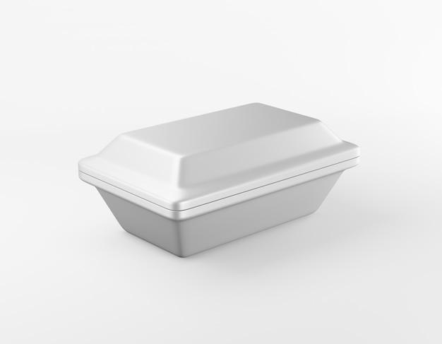 Современная упаковка прямоугольной коробки глянцевая металлическая коробка. 3d-рендеринг.