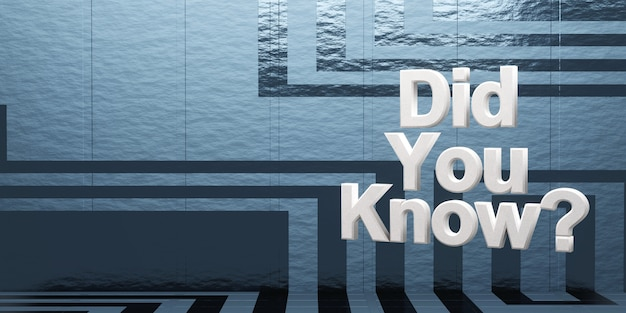 Вы знали? на фоне научной фантастики, 3d-рендеринг